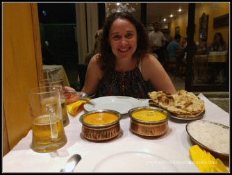 Cena india en Albufeira, Algarve