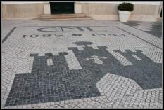 Suelo de mosaico en Loulé, Algarve.