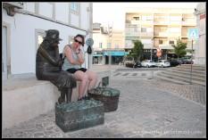 Haciendo amigas en Loulé, Algarve.
