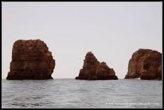 Formaciones en el trayecto en Barca por Lagos, Algarve.