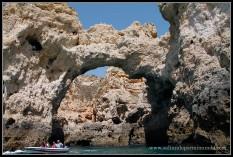 Recorrido en Barca por LAgos, Algarve.
