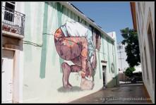 Arte callejero en Lagos, Algarve.