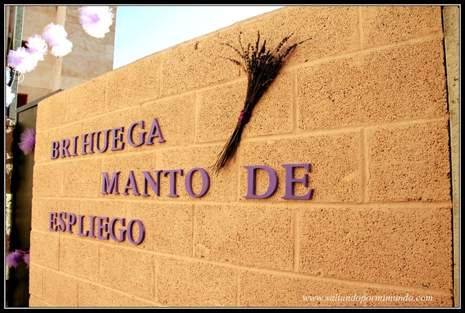 Decoración en Brihuega en la Fiesta de la lavanda, Guadalajara