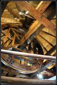 Interior de un molino de viento en Consuegra.Interior de un molino de viento en Consuegra.