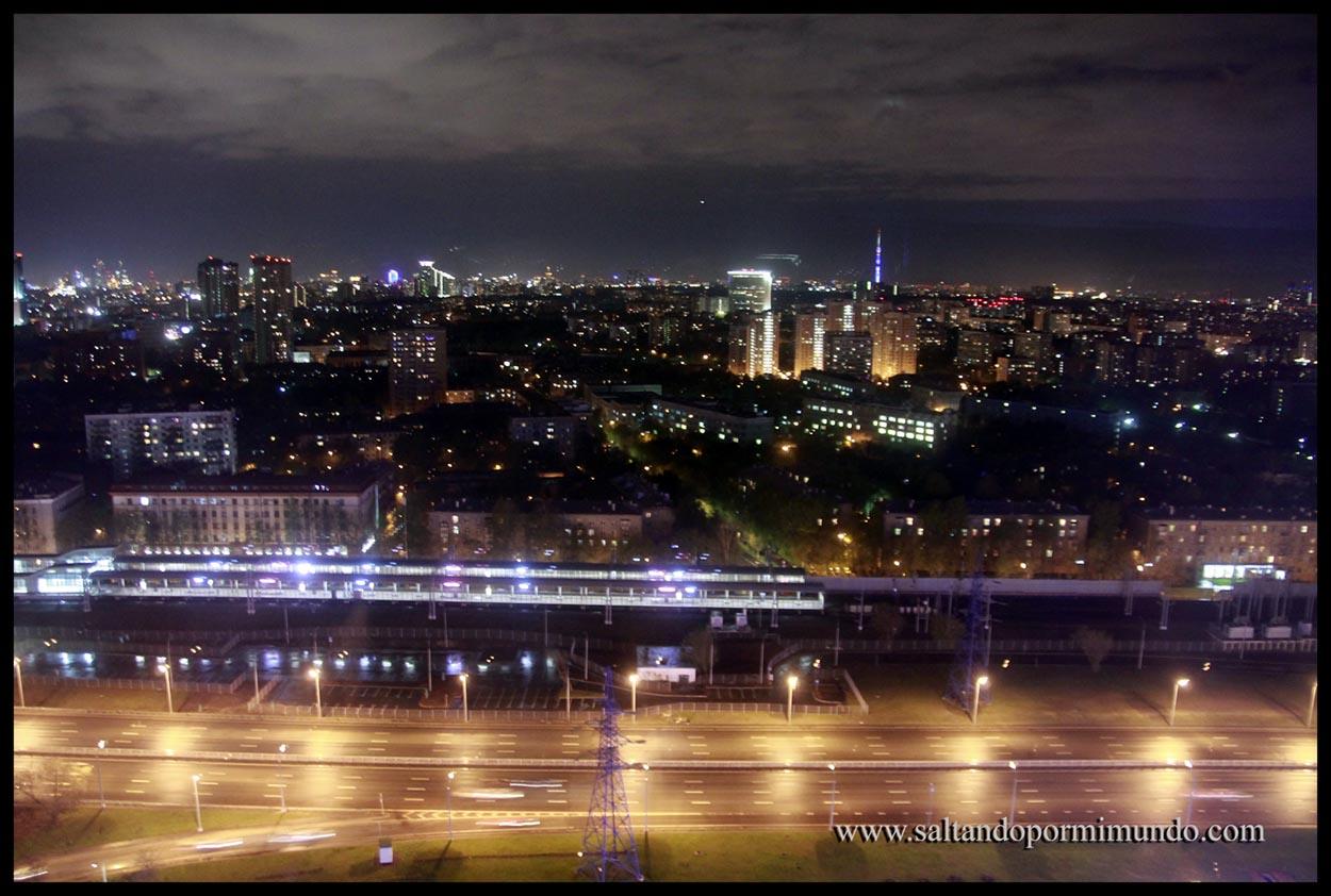 Vistas de Moscú desde el Hotel Izmalovo Beta