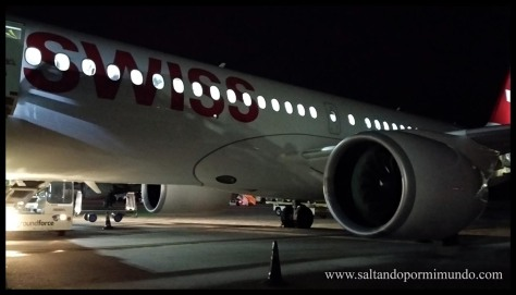 Avión de Swiss