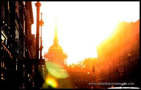 Juego de luces en San Petersburgo.