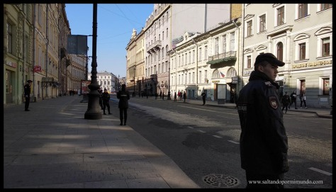 Ensayo para el desfile nacional en San Petersburgo