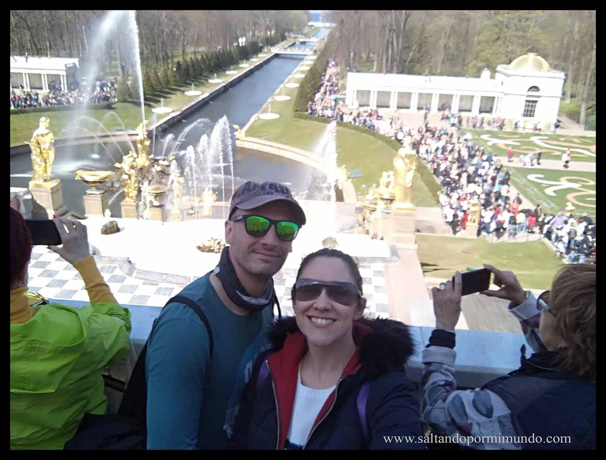 Selfie en el Palacio de Peterhof