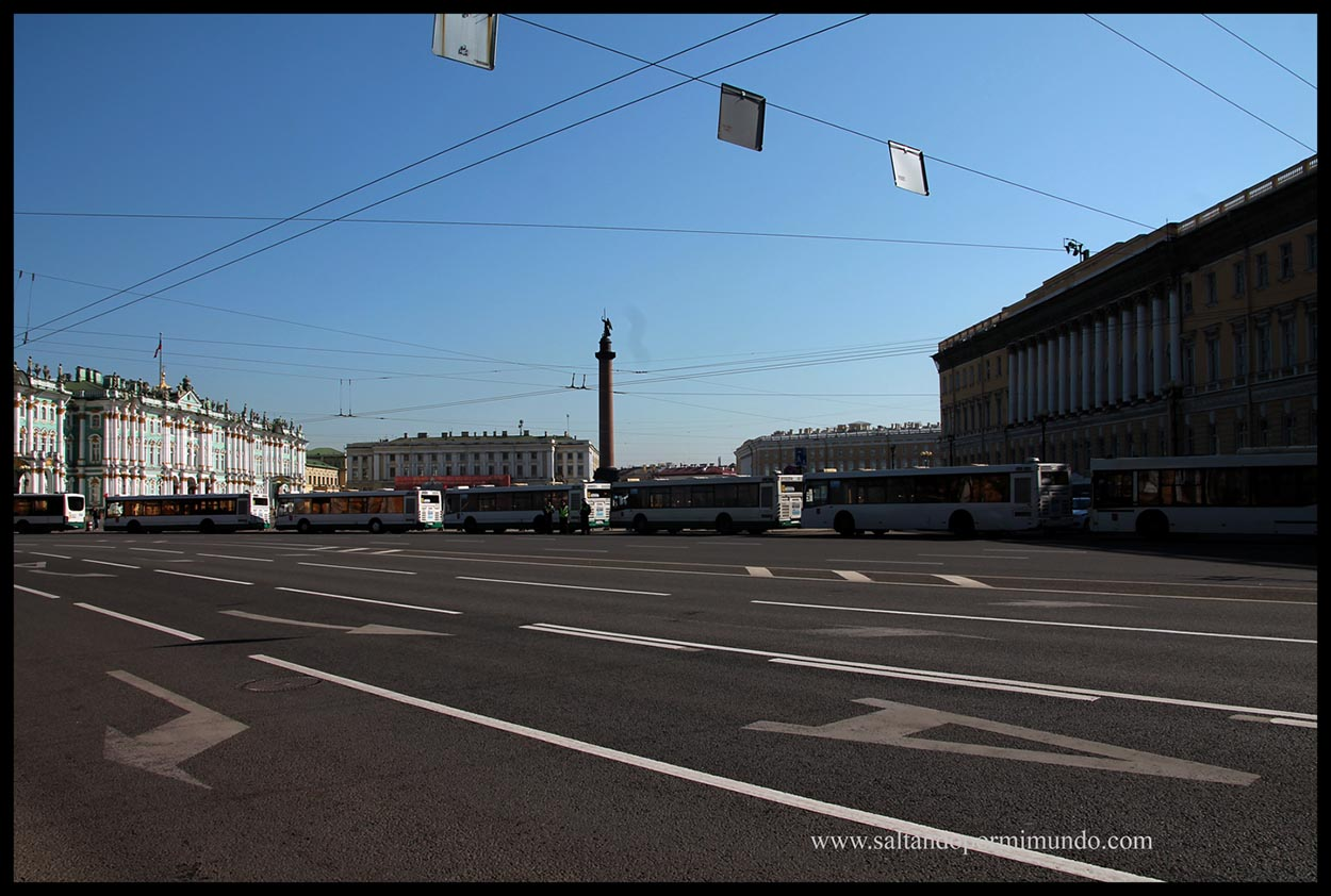 Preparativos para el ensayo para el desfile nacional en San Petersburgo