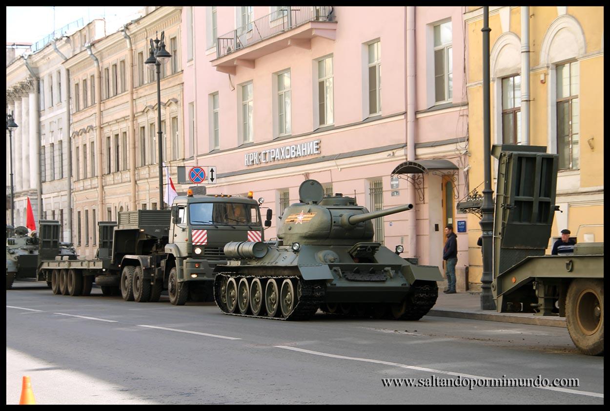 Desfile militar en san Petersburgo.