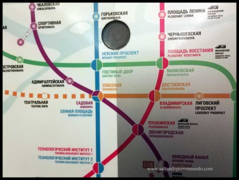 Plano del metro