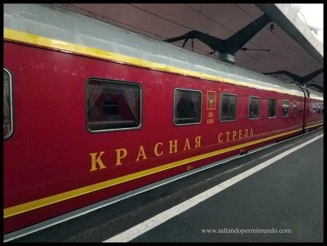 Tren noscturno Flecha Roja.