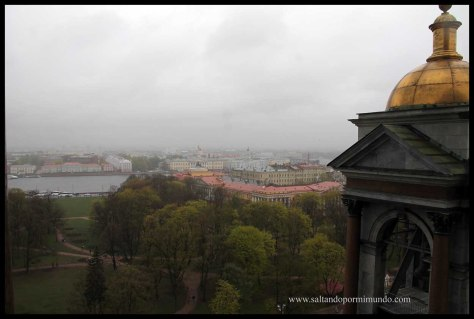 Las mejores vistas de San Petersburgo son desde la Catedral de San Isaac.
