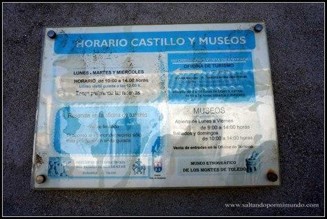 Horario de visita al Castillo de Guadamur, Toledo.