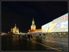 Plaza Roja de Moscú iluminada