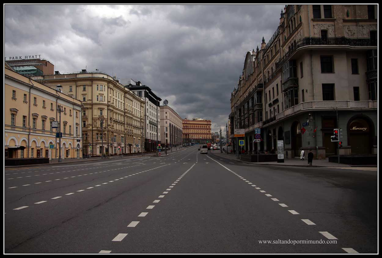 Grandes avenidas en Moscú.