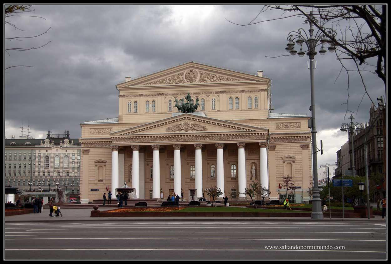 Teatro más importante de Moscú. Teatro Bolsoi.