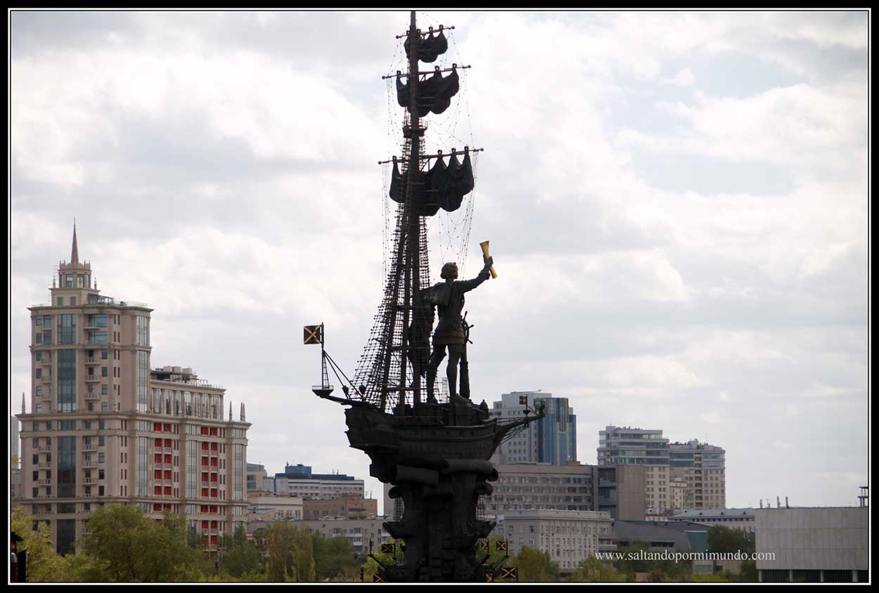 Homenaje a Pedro el Grande en Moscú ( ¿o era a Cristobal Colon?)