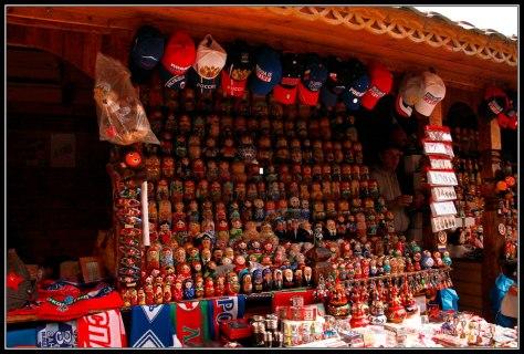 Puesto en Mercado de Izmalovo