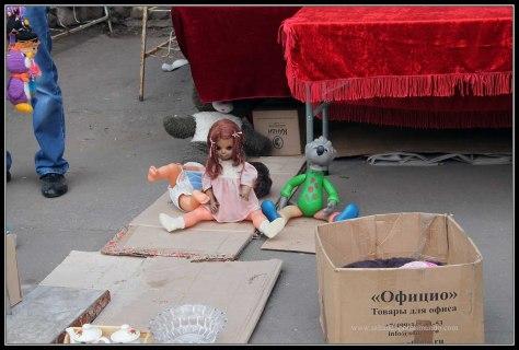 Puestos en el Mercado de Izmalovo