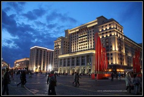 Iluminacion noctura Moscú