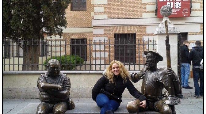 Una foto, una historia: Don Quijote y Sancho Panza en Alcalá de Henares