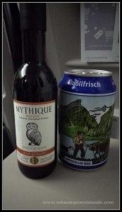 Cerveza Suiza y Vino francés